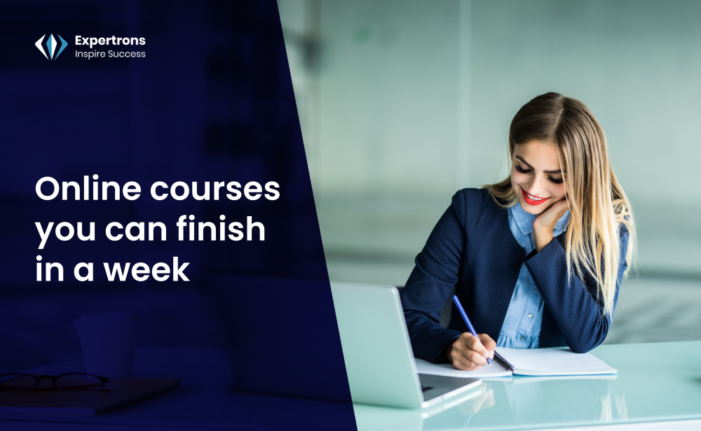 Online courses you can finish in a week